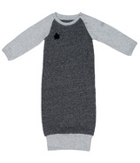 Juddlies Raglan Organic Nightie Graphite Black