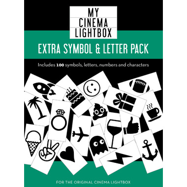 My Cinema Lightbox Extra Symbol & Letter Pack V2