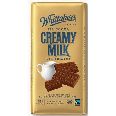 Whittaker\'s Fair Trade Creamy Milk Chocolate
