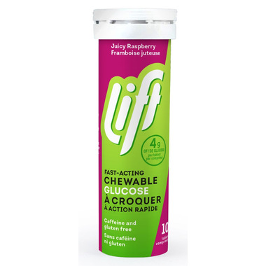Lift Glucose Chews Juicy Raspberry