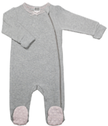 Kushies Side Zip Sleeper Light Grey & Pink Feet