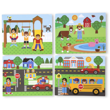 Melissa & Doug Wooden Magnetic Matching Picture Game