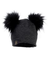 Lox Lion 3 Seasons Hat with Double Pompoms Grey