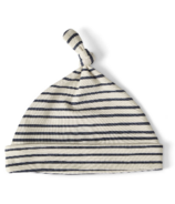 Petit Pehr Stripes Away Knot Hat Ink Blue