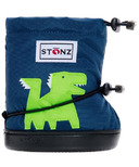 Stonz Navy Blue Dragon Toddler Booties