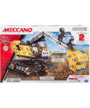 Meccano 2-in-1 Model Set Excavator and Bulldozer