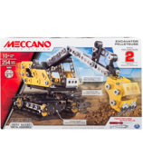Meccano 2-in-1 Model Set Excavator and Bulldozer