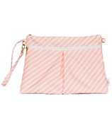 Logan and Lenora Waterproof Wristlet Clutch Blush Stripe