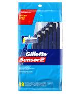 Gillette Sensor2 Fixed Head Men's Disposable Razors