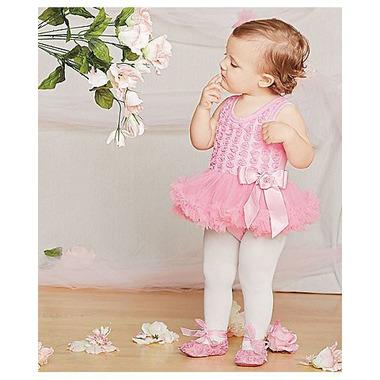 Olivia Rose Rosette Onesie Pettidress Pink