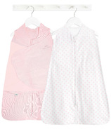HALO Organic Gift Set Swaddle And Sleepsack Strawberry Solid And Dot