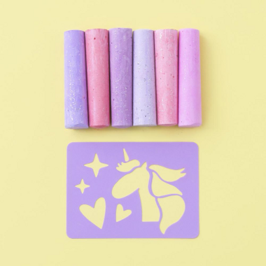 Yoobi Glitter Chalk Unicorn