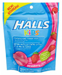 Halls Kids Cough & Sore Throat Pops Strawberry Flavour