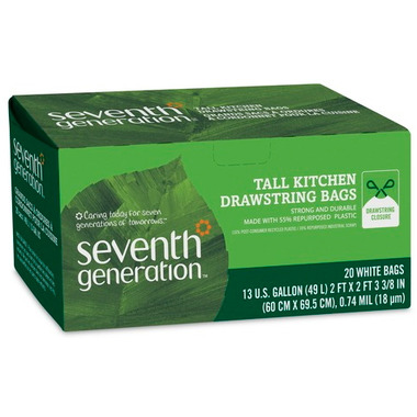 Seventh Generation Tall Kitchen Drawstring Bags
