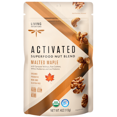 Living Intentions Superfood Nut Blends Malted Maple