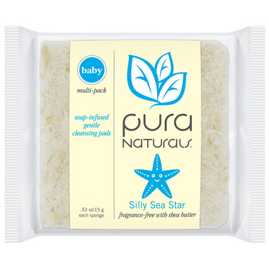 Pura Naturals Baby Soap-Infused Sponge Fragrance-Free