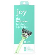 joy Razor Handle + 2 Razor Blade Refills Teal