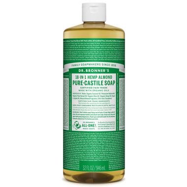 Dr. Bronner\'s Organic Pure Castile Liquid Soap Almond 32 Oz