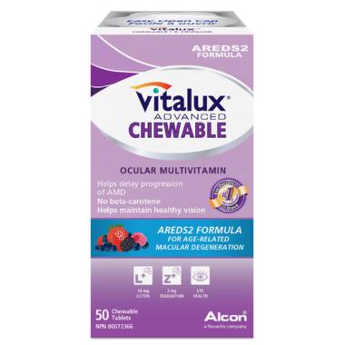 Vitalux Advanced Areds2 Formula Chewable Tablets