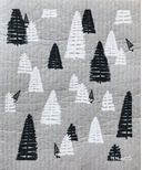 Ten & Co. Swedish Sponge Cloth Woods Grey & White