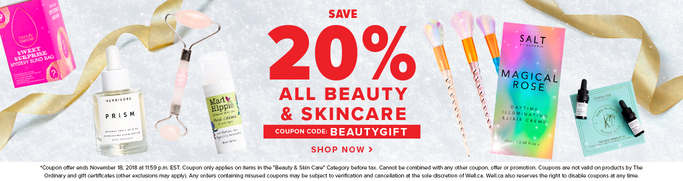 Save 20% off ALL Beauty & Skincare EVENT