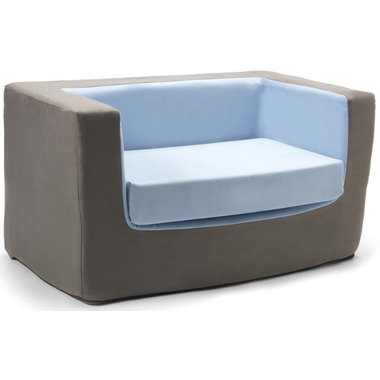 Monte Design Cubino Loveseat Charcoal & Blue