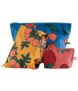 Baggu Go Pouch Set Backyard Fruit