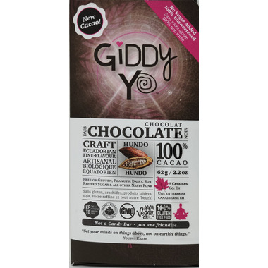 Giddy Yoyo Organic Chocolate Bar Hundo