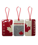 MYTAGALONGS Canadiana Knit Set Of 3 Luggage Tags