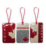 MYTAGALONGS Canadiana Knit Set Of 3 Luggage Tags