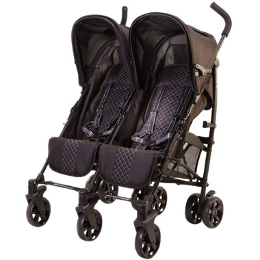 Guzzie & Guss Twice Double Umbrella Stroller Black