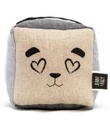 Jenny & Andy Organic Plush Rattle Cube Panda