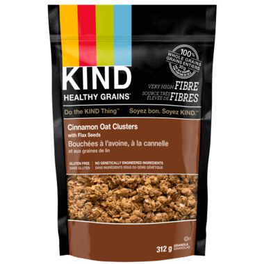 KIND Clusters Cinnamon Oat with Flax Seeds