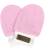 Juddlies Organic Cottage Scratch Mitts Sunset Pink