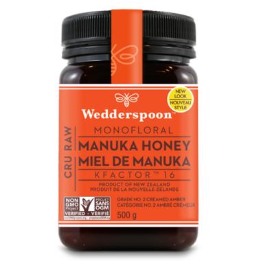 Wedderspoon 100% Raw Premium Manuka Honey KFactor 16