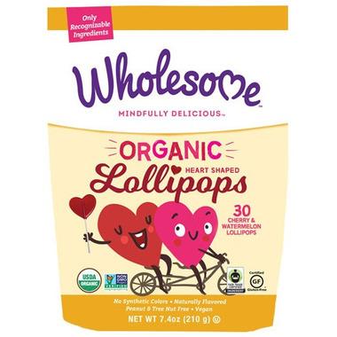 Wholesome Sweeteners Organic Heart Shaped Lollipops