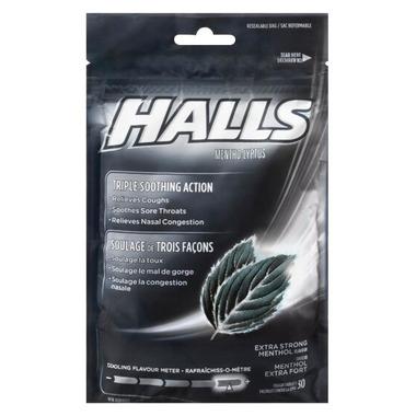 Halls Bag Menthol-Lyptus Extra Strong Menthol