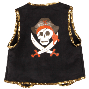 Great Pretenders Pirate Vest with Black Eye Patch