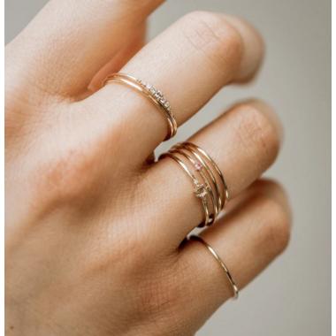 Bluboho Plain Jane Stacking Ring 14K Yellow Gold