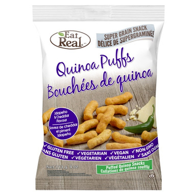 Eat Real Quinoa Puffs Jalapeno Cheddar Flavour