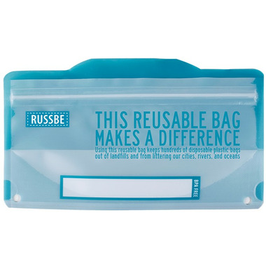 Russbe Reusable Snack Bags Statement Blue