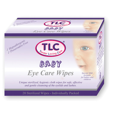 TLC Tender Loving Care Baby Eye Care Wipes
