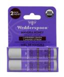 Wedderspoon Organic Manuka Lip Balm Lavender Lemon Two Pack