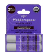 Wedderspoon Organic Manuka Lip Balm Lavender Lemon Two Pack