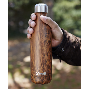 S\'well Teakwood Stainless Steel Water Bottle Wood Collection