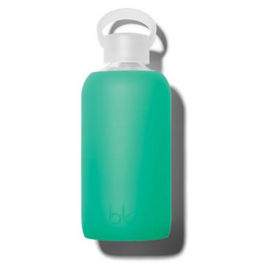 bkr Gramercy Glass Water Bottle Lush Garden Green