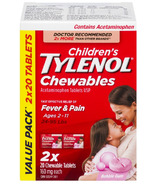 Tylenol Children's Chewable Tablets Bubble Gum Bonus Size