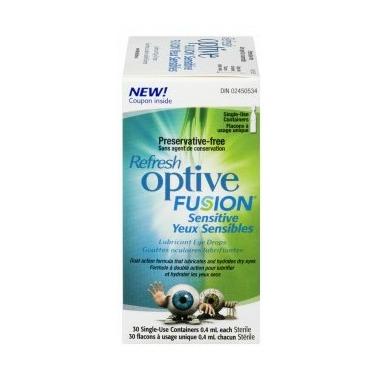 Refresh Optive Fusion Lubricant Eye Drops Sensitive
