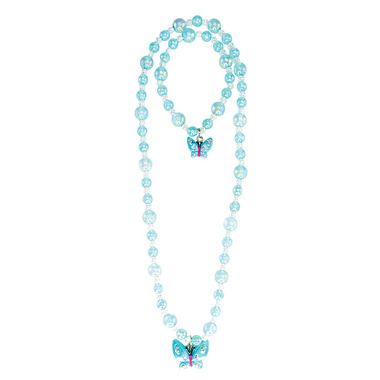 Great Pretenders Jazzy Bead Butterfly Necklace & Bracelet Set