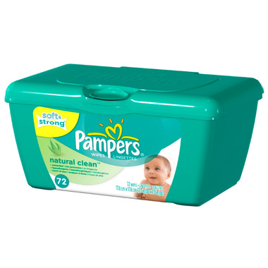 Pampers Natural Clean Wipes Tub